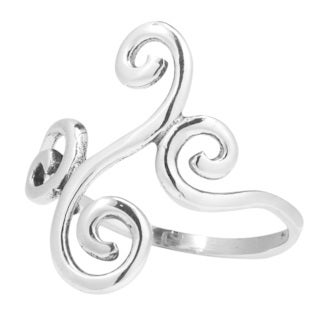 Handmade Dancing Vines Swirl Wrap .925 Sterling Silver Ring (Thailand)