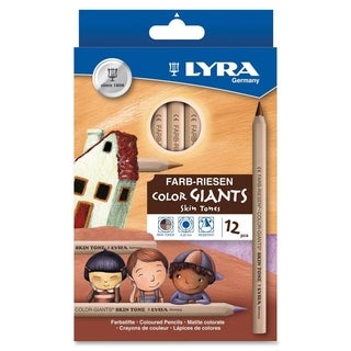 Lyra Color Giants Skin Tone Colored Pencils - 12/ST
