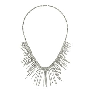 Sticks and Spikes Thai Karen Silver Attention Necklace (Thailand)