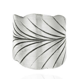 Leaf Wrap Thai Karen Hill Tribe Adjustable Silver Ring (Thailand)