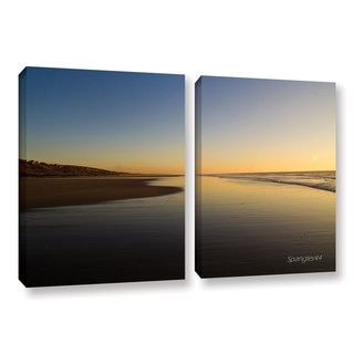 ArtWall Lindsey Janich 'Equihen Plage ' 2 Piece Gallery-wrapped Canvas Set