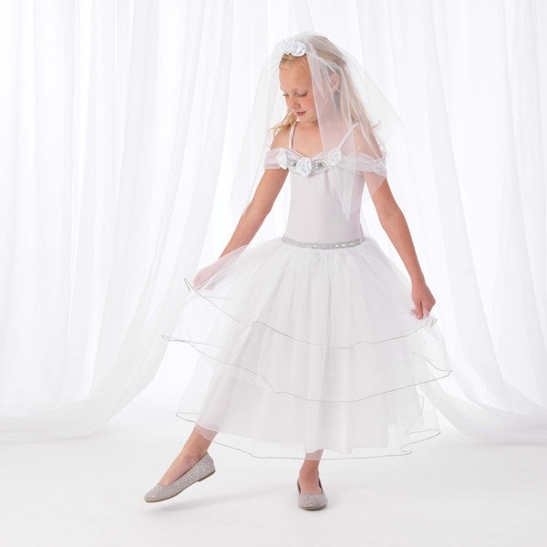 KidKraft White Rose Bride Costume Dress Up