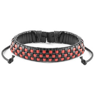 Woven Checkered Drawstring Bracelet (7.5 inches)