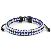 Woven Leather Drawstring Bracelet (7.5 inches)