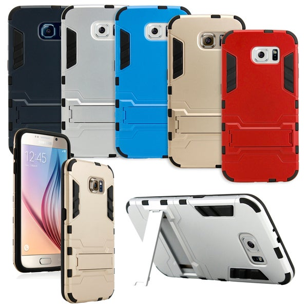 Gearonic Aluminum Metal Rugged Hard Stand Case for Samsung Galaxy S6