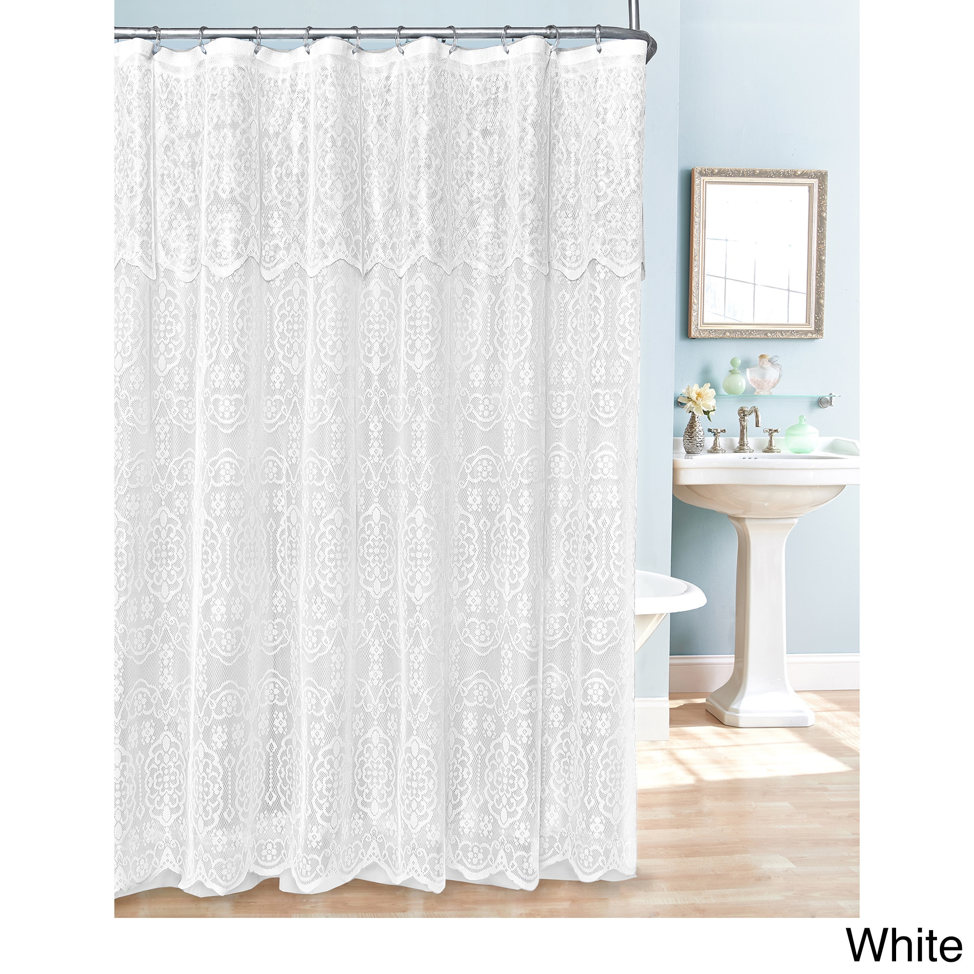 product curtain park today silk shower bath faux shipping jacquard madison free bedding overstock whitman