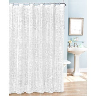 Lace Shower Curtain (Option: White)
