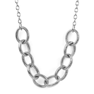 ELYA Stainless Steel Large Link Necklace