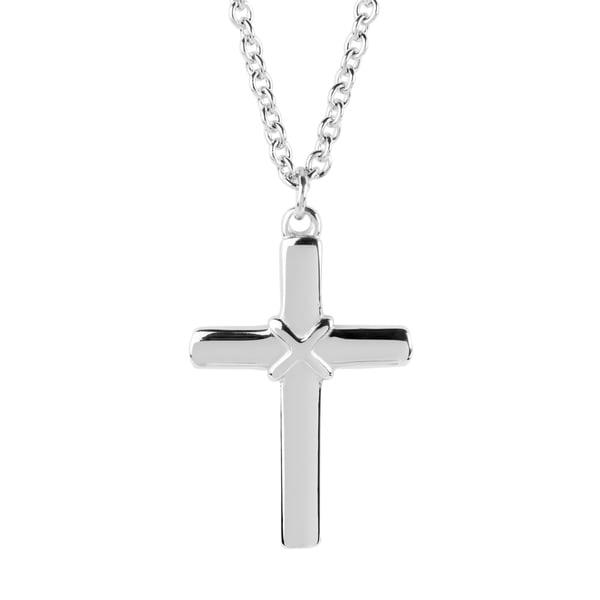 57d27b95cef4 Shop Women s Stainless Steel Cross Necklace - Free Shipping On ...