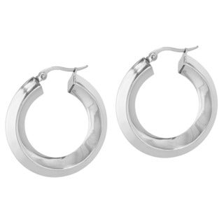 Women's Stainless Steel Hoop Earrings