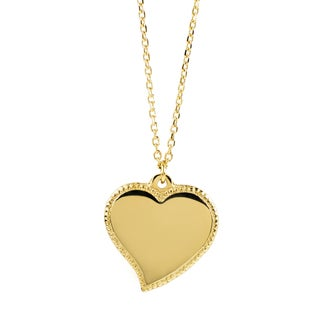 Women's Goldtone Stainless Steel Heart Charm Necklace