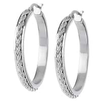 Women's Stainless Steel Rope Hoop Earrings