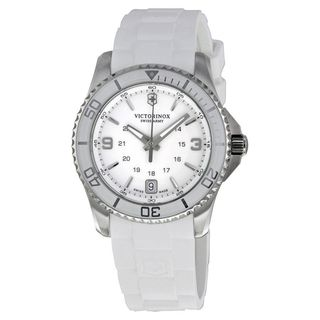 Victorinox Swiss Army Women's 241700 'Maverick' White Rubber Watch