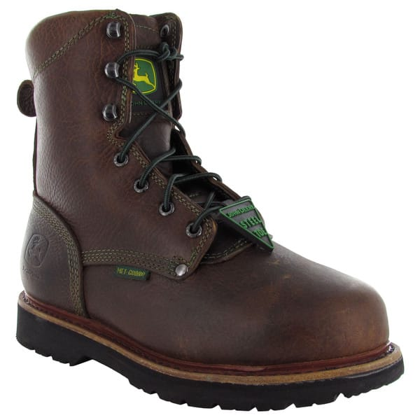 cc8187d6cee Shop John Deere Womens JD3362 Steel Toe Lace Up Safety Boots - Free ...