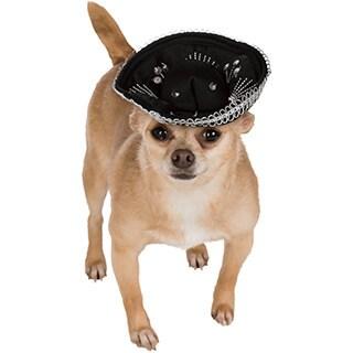 Black and Silver Sombrero Pet Costume