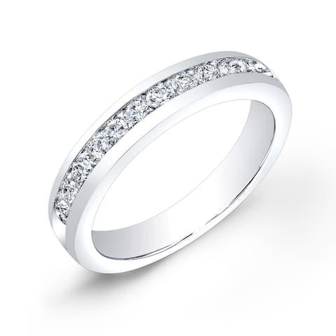 Auriya 10k Gold Channel-set Diamond Wedding Band 1/2ctw