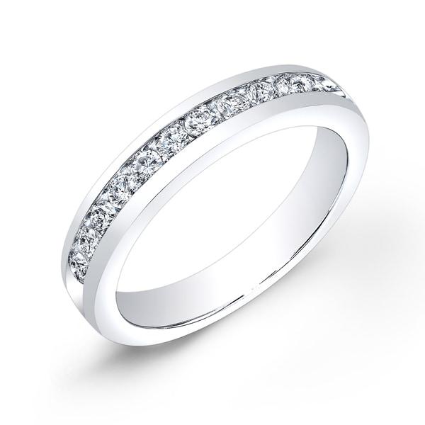 Auriya 10k Gold 1/2ct TDW Round Channel-Set Diamond Wedding Band