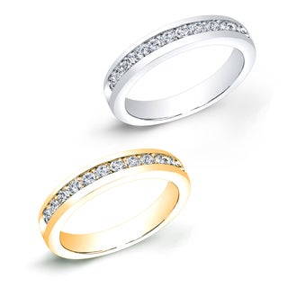 Auriya 10k Gold 1/2ct TDW Round Channel-Set Diamond Wedding Band