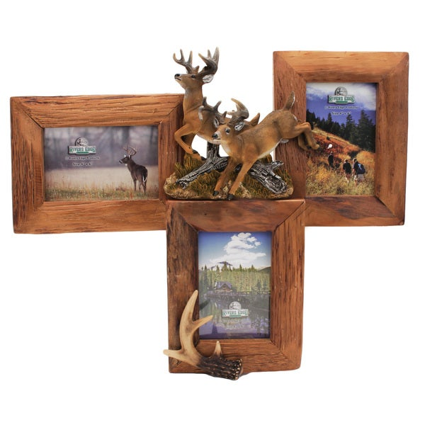 Rivers Edge Products Firwood Deer 3-photo Picture Frame