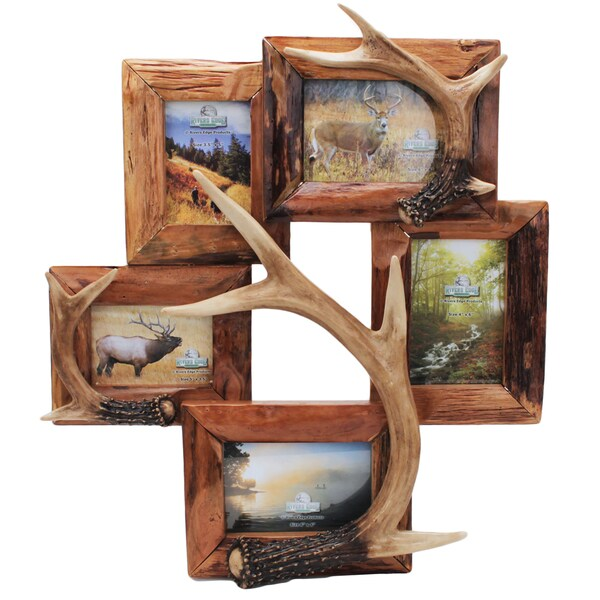 Rivers Edge Products Deer Antlers 5-photo Picture Frame