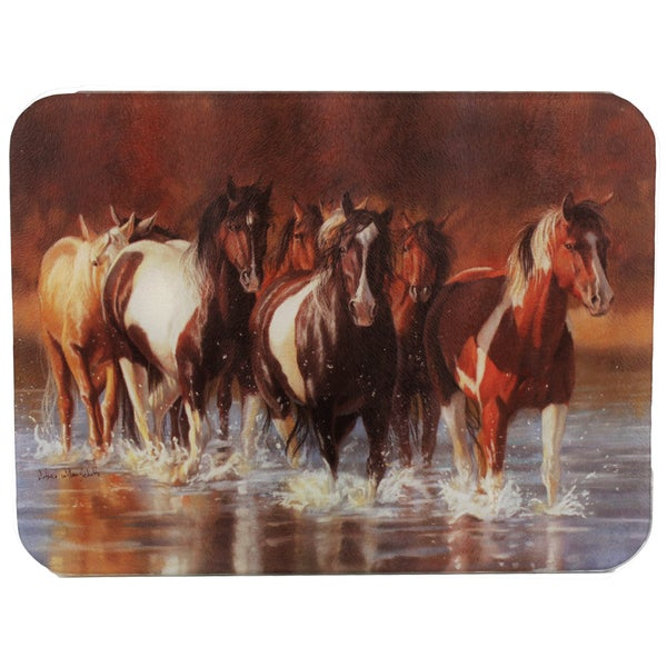 Rivers Edge Products Horse Rush Hour Cutting Board