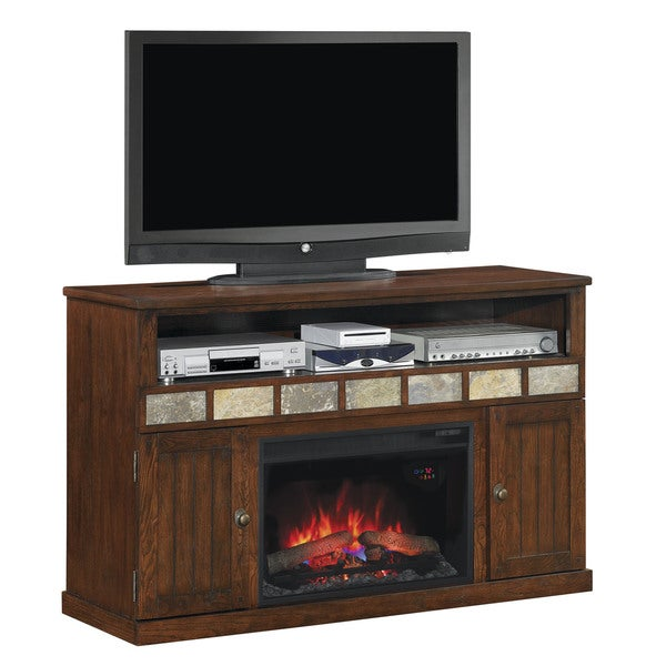 Classicflame 75119 Caramel Oak Margate Tv Stand For Tvs Up To 60 Inches With 26 Inch Electric