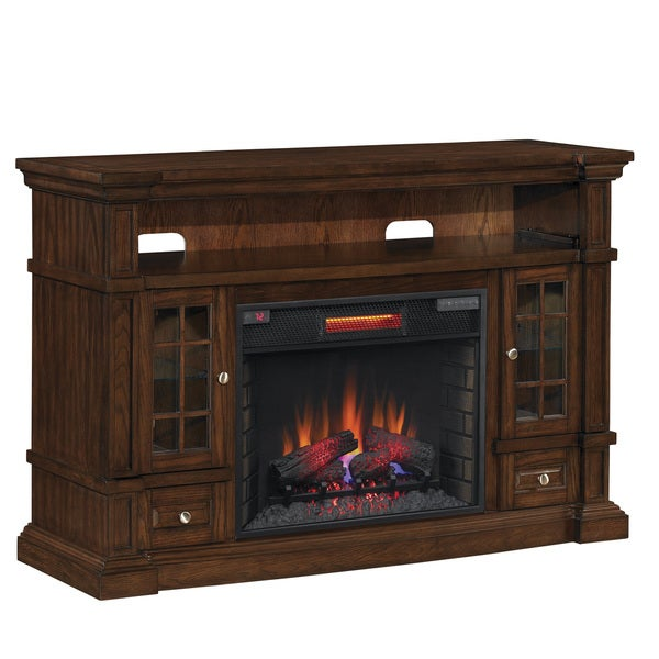 Shop Classicflame 74938 Caramel Oak Belmont Tv Stand For