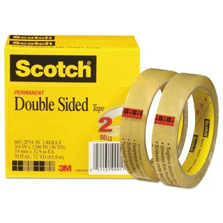Scotch Double-Sided Transparent Tape (Pack of 2)
