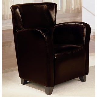 Contemporary Dark Brown Upholstered Accent Chair