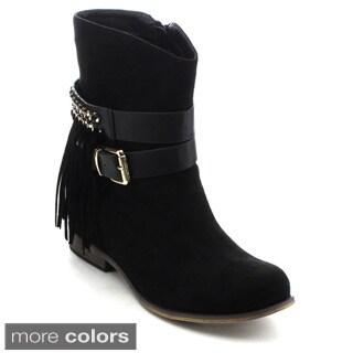 Jacobies Women's Fringe Ankle Boots