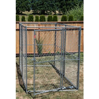 Lucky Dog Silvertone Modular Chain Link Kennel Kit