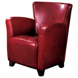 Contemporary Red Upholstered Accent Chair