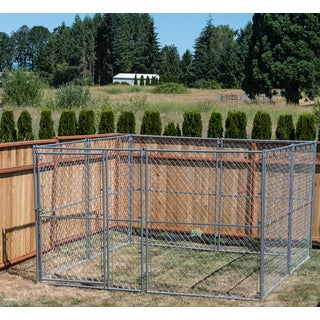Lucky Dog Modular Chain Link Kennel Kit