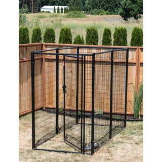 Lucky Dog Black Modular Kennel