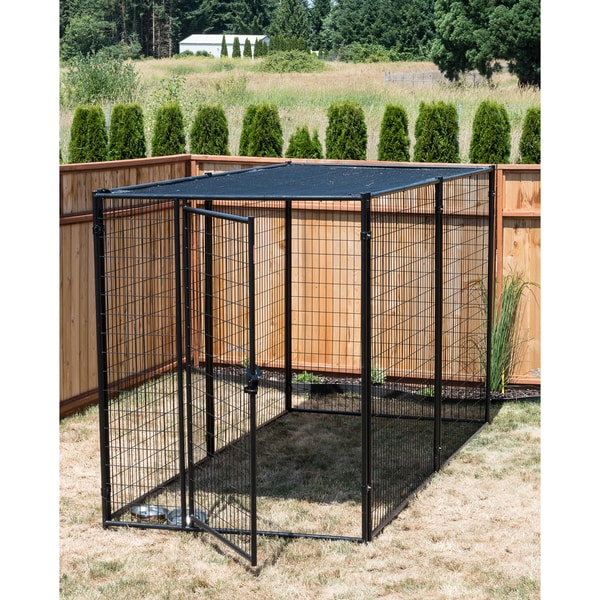 Shop Lucky Dog Modular Kennel With Shade Cloth Roof
