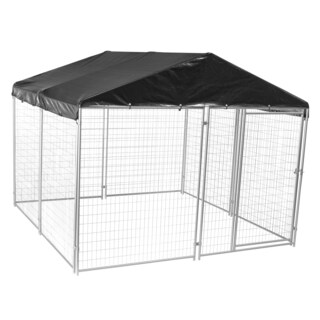 Lucky Dog Modular Welded Wire Kennel Kit with Cover and Frame