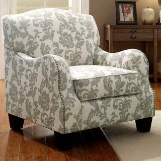 Dankona Fleur Living Room Accent Chair with Nailhead Trim