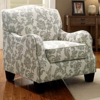 Dankona Fleur Living Room Accent Chair with Nailhead Trim