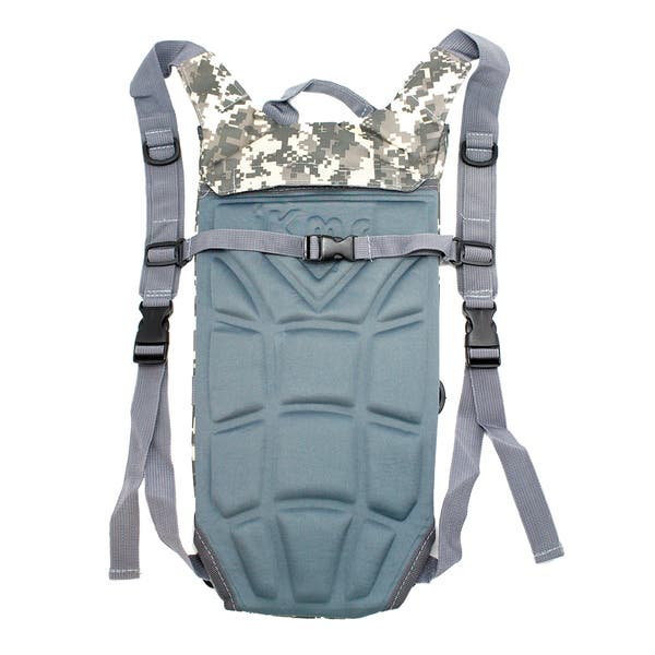 2L Water Bag Hydration Reservoir Bladder Survival Pouch with Backpack