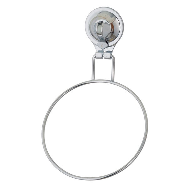 Easy Install Chrome Finished Damage Free Suction Grip Towel Ring