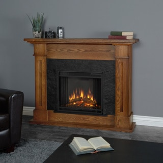 Real Flame Kipling Burnished Oak Electric Fireplace