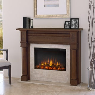 Real Flame Berkeley Chestnut Oak 47 in. L x 12.3 in. D x 40.1 in. H Electric Fireplace