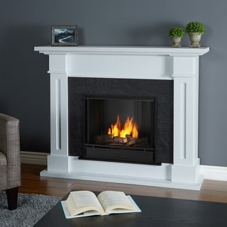 Real Flame Kipling White 53.5 in. L x 13.7 in. W x 41.5 in. H Gel Fireplace
