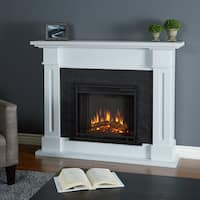 Real Flame Kipling White 53.5-inch Long x 13.7-inch Wide x 41.5-inch High Electric Fireplace