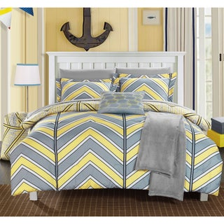 Chic Home Amaretto Chevron Reversible 10-piece Bed in a Bag with Sheet Set (4 options available)