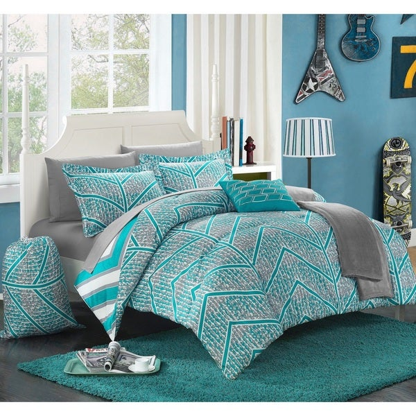 Shop Chic Home Amaretto Chevron Reversible 10 Piece Bed In