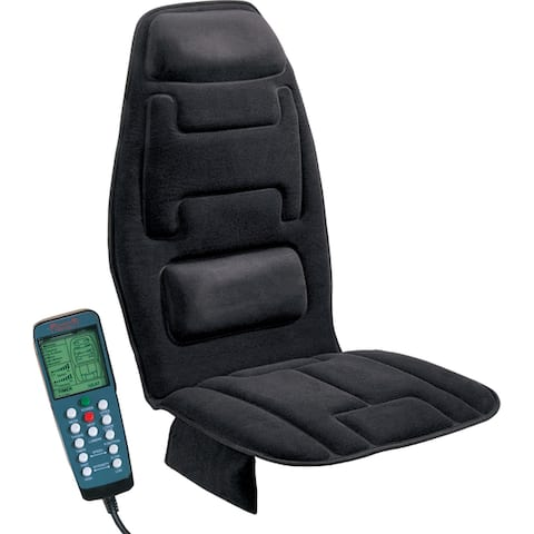 Relaxzen 10 Motor Black Massage Cushion with Heat