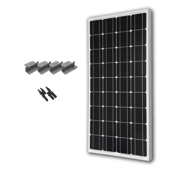 Renogy 100 Watts 12 Volts Monocrystalline Solar Expansion Kit. Opens flyout.