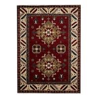 Herat Oriental Indo Hand-knotted Tribal Kazak Wool Rug (5'9 x 8') - 5'9 x 8'
