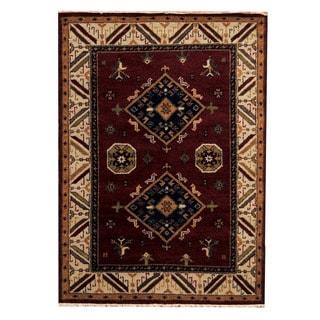 Handmade One-of-a-Kind Kazak Wool Rug (India) - 4'9 x 6'7